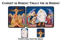 christ is risen with pictures